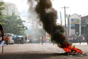 Гледка от столицата Тегусигалпа в дните на преврата през 2009 г.
