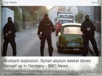 Сириец се самовзриви в баварския град Ансбах