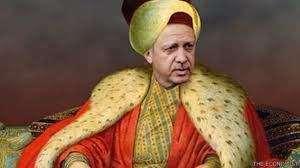 Турският президент като султан, колаж на сп. The Economist