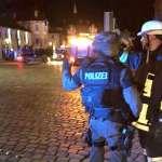 След атентата в Ансбах. Снимка: Туитър.