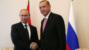 Владимир Путин и Реджеп Ердоган по време на срещата си в Санкт-Петербург