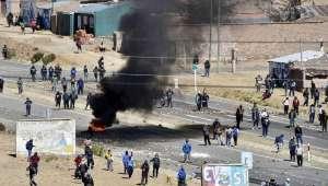 Пътната блокада на боливийските миньори край Пандуро