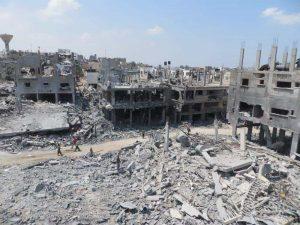 Ивицата Газа остава в руини две години след последната война Снимка: Wikimedia Commons