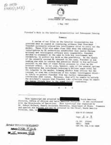 Документът от 1 май 1987 г., връчен от САЩ на Чили по повод убийството на Летелиер