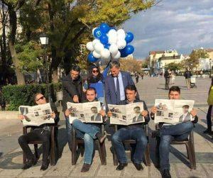 Една четвърт от избирателите на Трайчо Трайков срещат затруднение с правилното държане на вестник