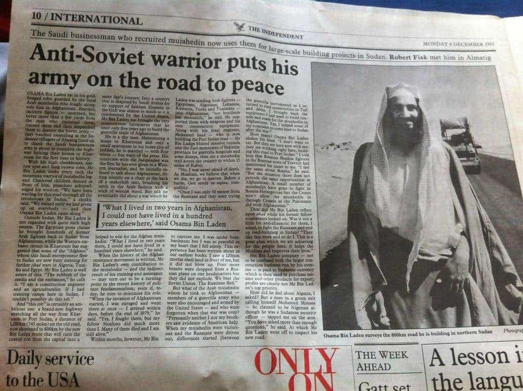 Преди няколко десетилетия Осама бин Ладен беше положителен медиен герой. Днес някои от наследниците му отново биват представяни целите в бяло. Урокът изглежда не е научен.