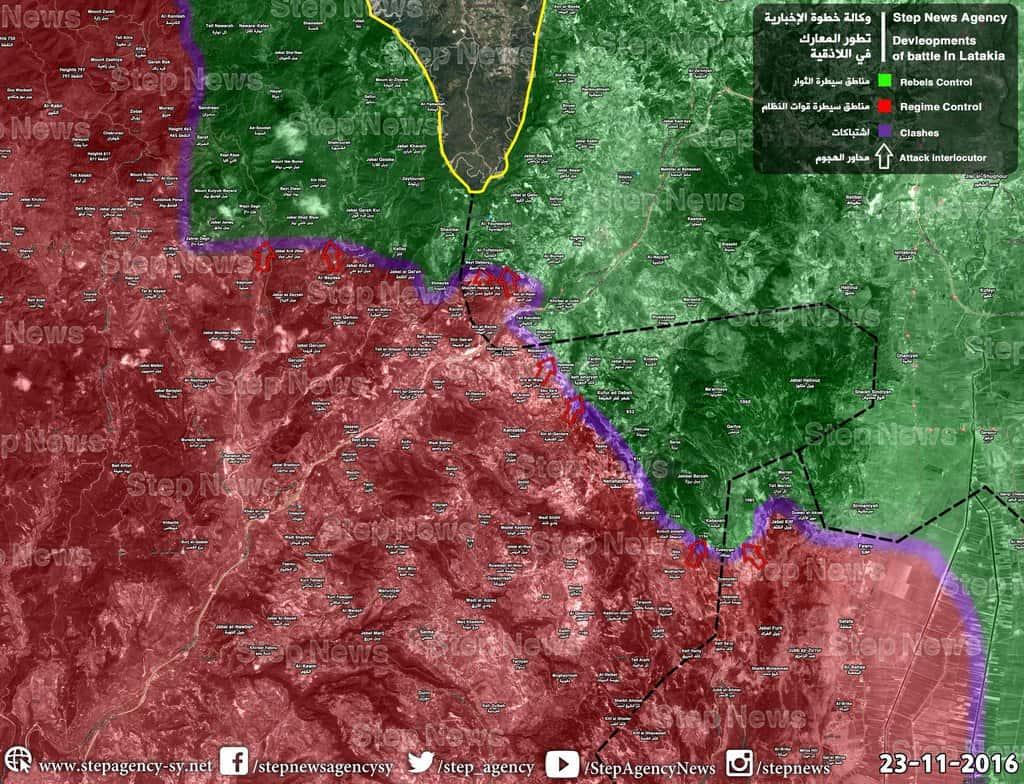 Турската намеса е принудила сирийската армия да прекрати офанзивата в Северна Латакия
