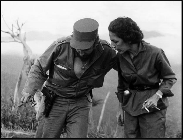 Фидел и Селия Санчес в Сиера Маестра
