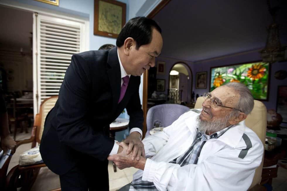 Последният световен лидер, срещнал се Фидел Кастро на 15 ноември т.г., стана президентат на Виетнам Чан Дай Куанг