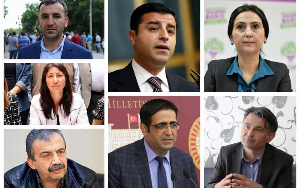 Част от арестуваните в петък кюрдски депутати