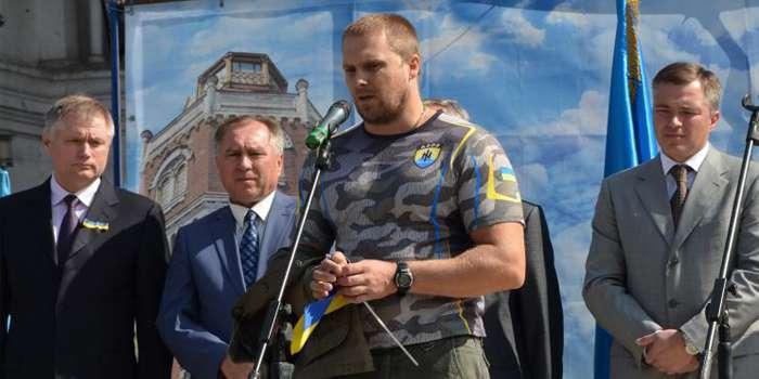 "Вадим Троян когато бе заместник командир на неонацисткия батальон ""Азов"""