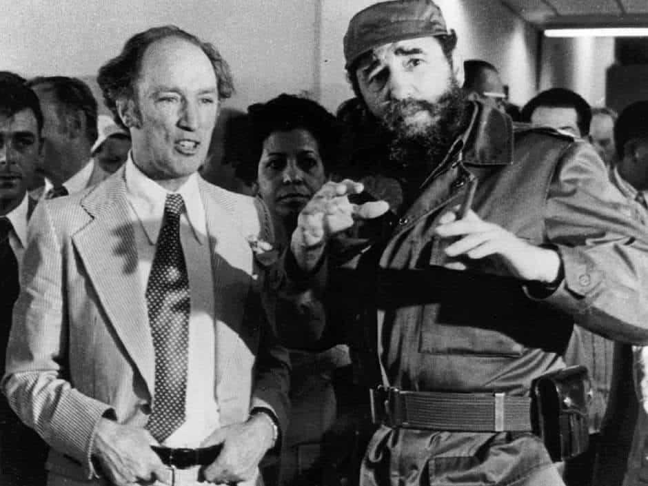 Пиер Трюдо и Фидел Кастро по време на историческата визита на тогавашния премиер на Канада в Куба