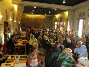 В заседателната зала на XVII Европейска среща за солидарност с Куба в Стокхолм
