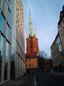 """Най-висока в Стокхолм–116 метра–е кулата на църквата """"Света Клара"""""""