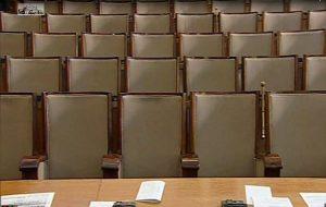 Местата за парламентарната група на БСП останаха празни в края на гласуването