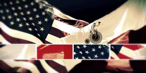 Полско и американско знаме. Графика.