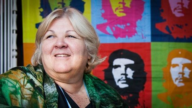 Алейда Гевара по време на XVII Европейска среща за солидарност с Куба в Стокхолм