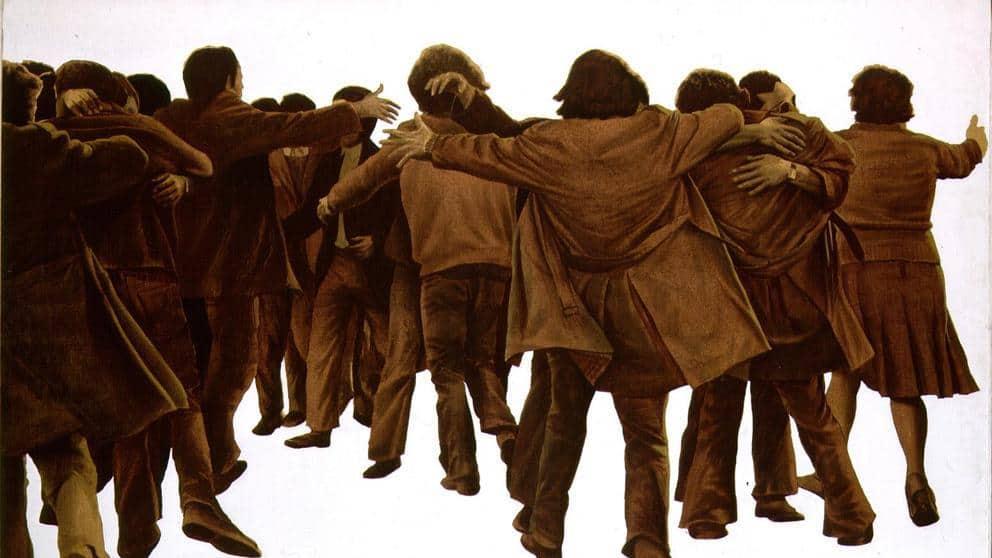 """Картината на Хуан Хеновес """"Прегръдката"""""""