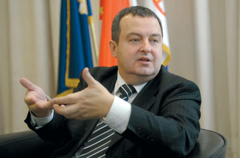 Сръбският външен министър Ивицоа Дачич