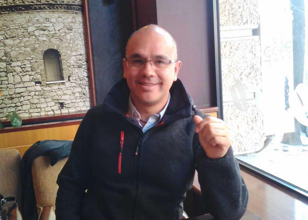 Давид Гарсия по време на интервюто в София. Снимка: Къдринка Къдринова