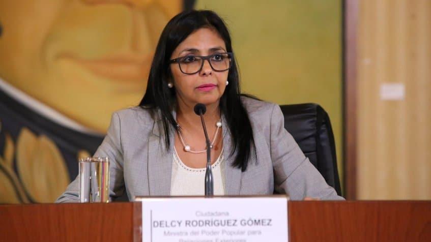 Външната министърка на Венесуела Делси Родригес. Снимка: globovision