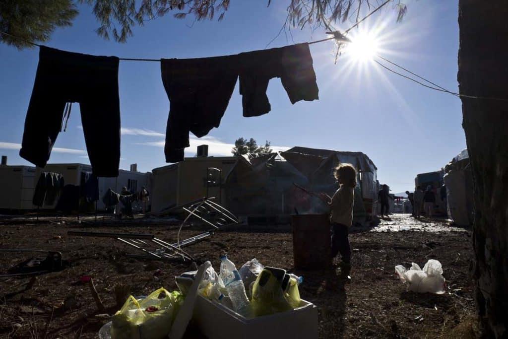 Пролетта носи повече слънце в бежанския лагер Рицона. Снимка: proceso.com.mx