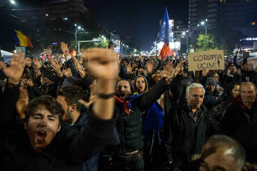 Протестите в Румъния не секват. Снимка: Ал-Джазира