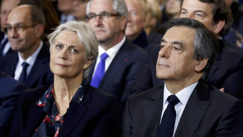 Франсоа Фийон и жена му Пенелоп. Снимка: RFI