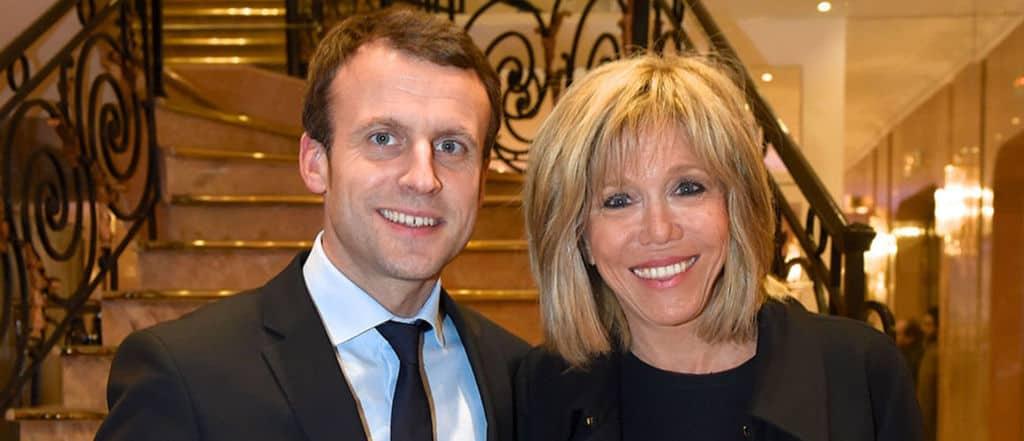 Еманюел Макрон и съпругата му Бриджит Троние. Снимка: Tele.Loisirs.fr