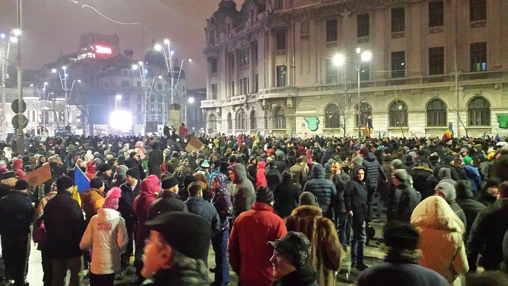 Демонстрациите от началото на 2017-та са доминирани от дискурса на средната класа. Снимка: Wikimedia Commons