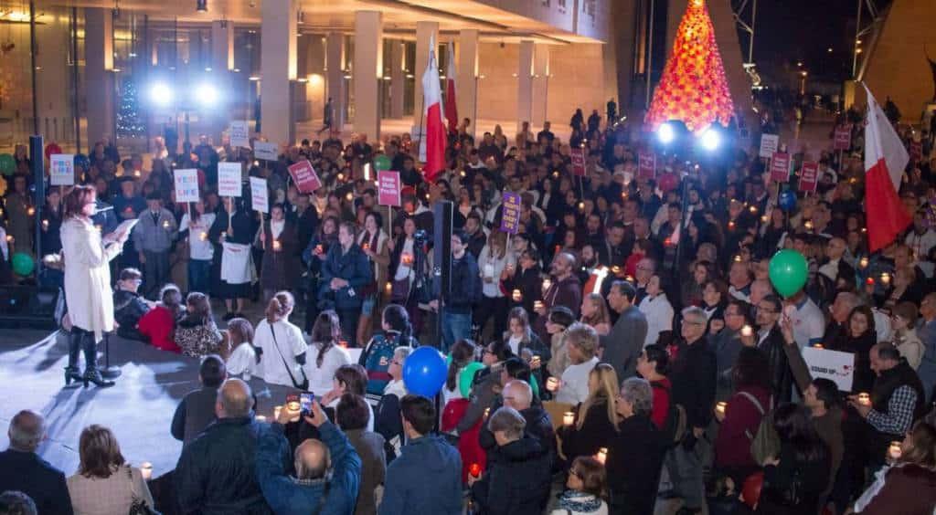"""Мириам Сциберас говори на """"антиабортистки"""" митинг през декември м.г. Снимка: elpais.com"""