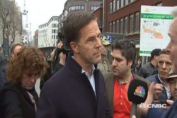 Холандският премиер Марк Рюте. Снимка: CNBC