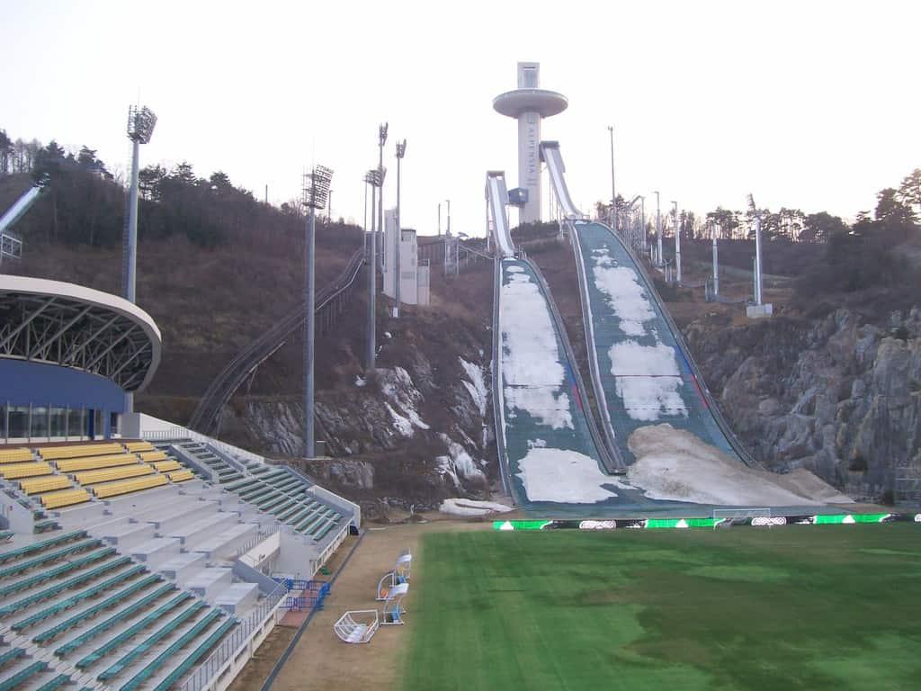 Планинският окръг Пьончанг ще домакинства на зимната Олимпиада догодина. Тук ще са ски скоковете. Снимка: Къдринка Къдринова