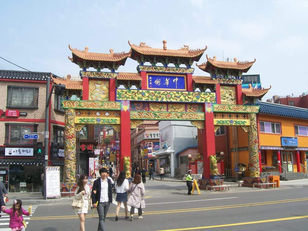 Входът към Китайския квартал в Инчон. Снимка: Къдринка Къдринова