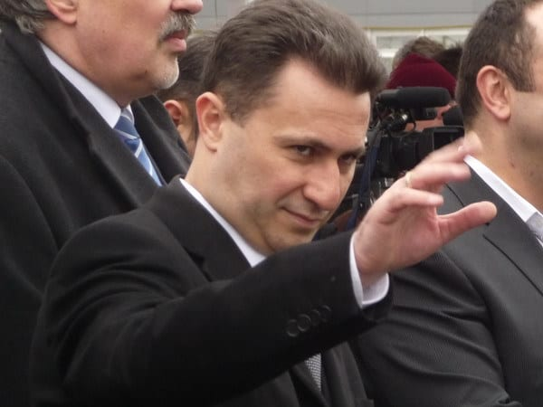 Премиерът Никола Груевски. Снимка: Balkan Insight