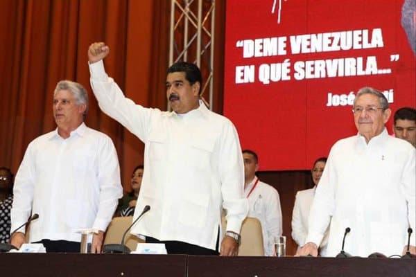 Николас Мадуро (в средата) увери съюзниците си от ALBA по време а среща на организацията в Хавана, че ще отстои Боливарската революция, Снимка: TeleSUR