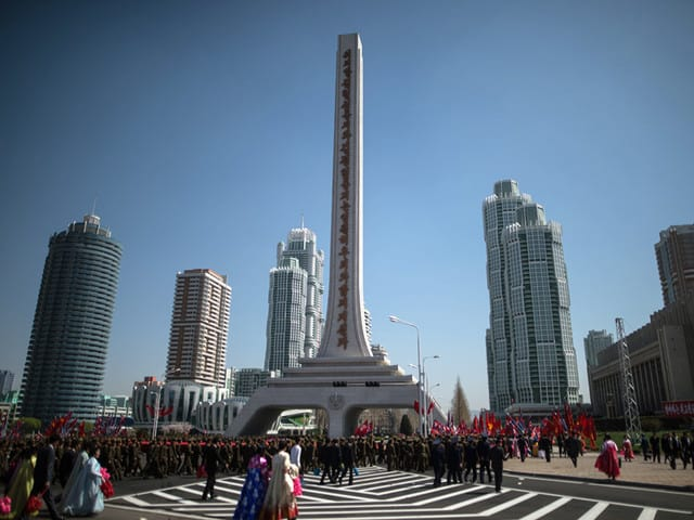В центъра на Пхенян. Снимка: РИА Новости