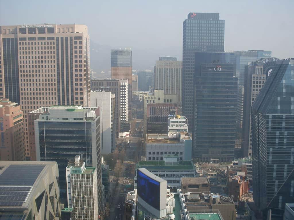 Поглед отвисоко насред центъра на Сеул. Снимка: Къдринка Къдринова