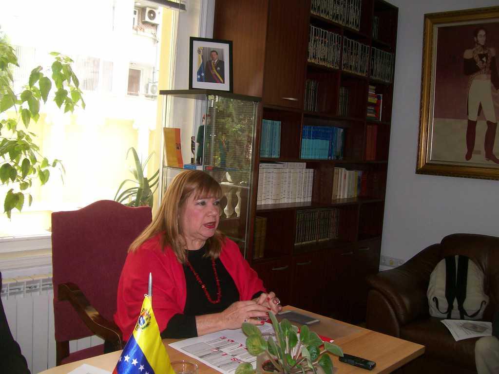 Ориета Каапони, извънреден и пълномощен посланик на Боливарска република Венесуела у нас. Снимка: Къдринка Къдринова