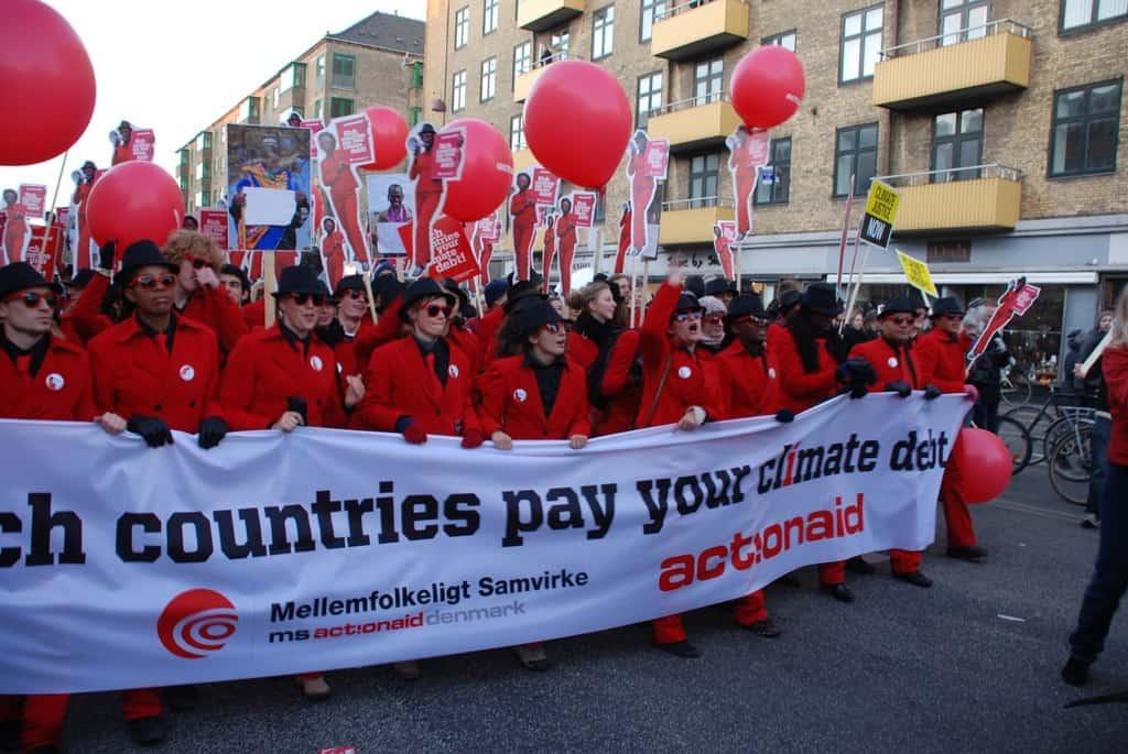 Протестно шествие в Копенхаген по време на конференцията за климатичните промени през 2009 г. Снимка: Уикипедия