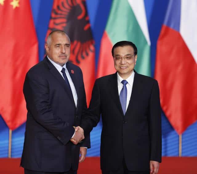 Бойко Борисов и китайският премиер Ли Къцян на срещата 16+1 в Суджоу. Снимка: boykoborissov.bg