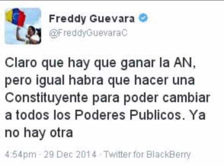 Туитът на Фреди Гевара от 2014 г.