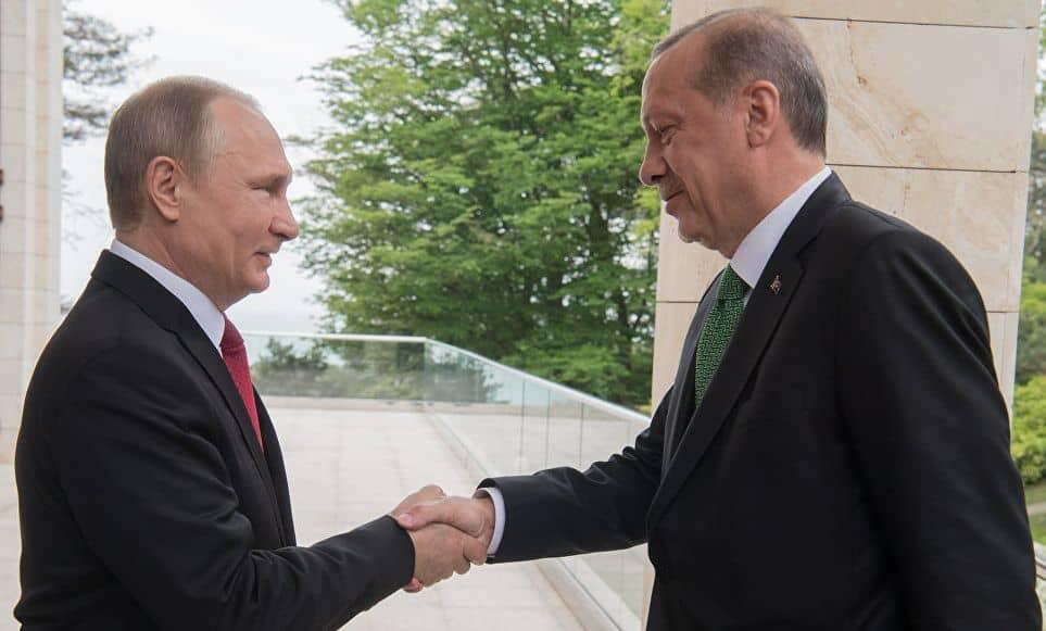Владимир Путин и Реджеп Ердоган в Сочи. Снимка: РИА