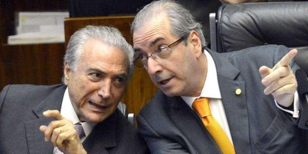Цяла Бразилия е свикнала да вижда такива кадри на близост между Мишел Темер (вляво) и Едеардо Куня в продължение на години. Източник: debateprogressista.com.br