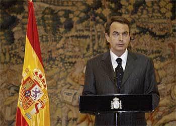 Хосе Луис Родригес Сапатеро като премиер на Испания обявява изтеглянето на испанските войски от Ирак на 18 април 2004 г. Снимка: El Pais