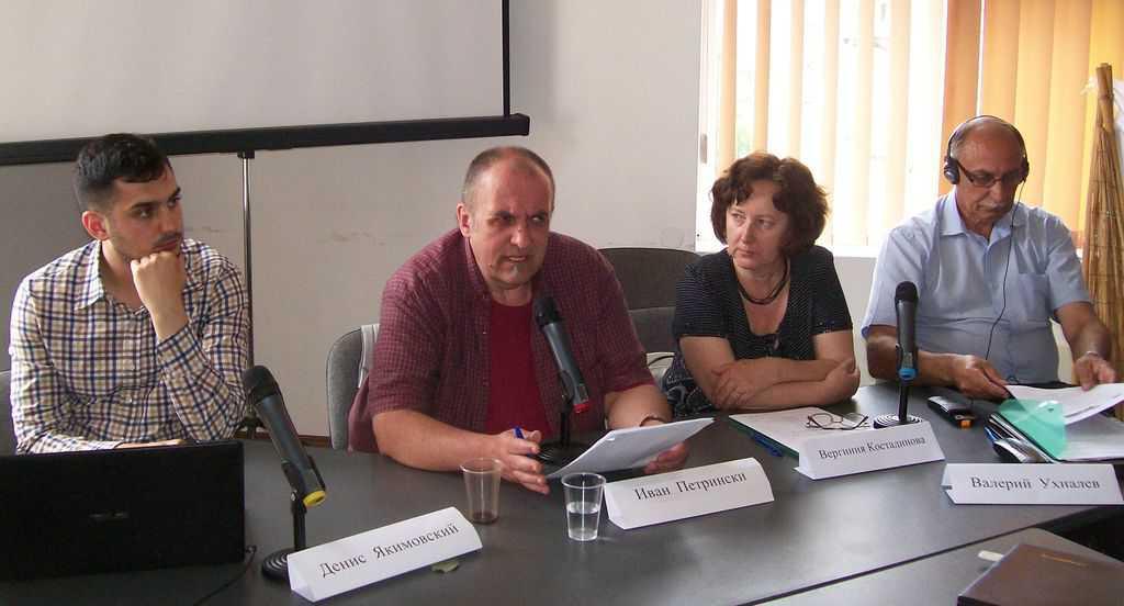 Отляво надясно: Денис Якимовски, Иван Петрински, Вергиния Костадинова, Валерий Ухналев. Снимка: Къдринка Къдринова