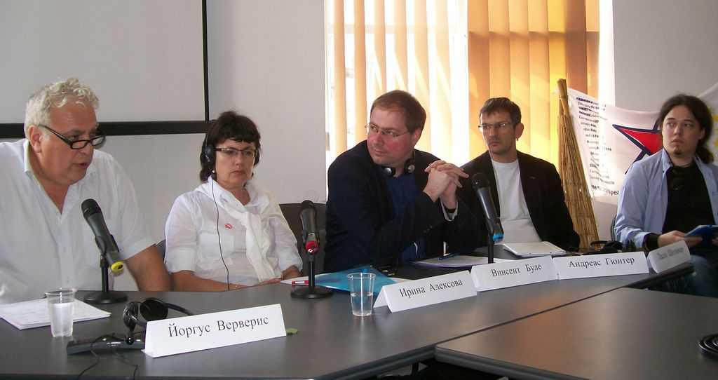 Отляво надясно: Йоргос Верверис, Ирина Алексова, Венсан Буле, Андреас Гюнтер и Ласло Шолимар. Снимка: Къдринка Къдринова