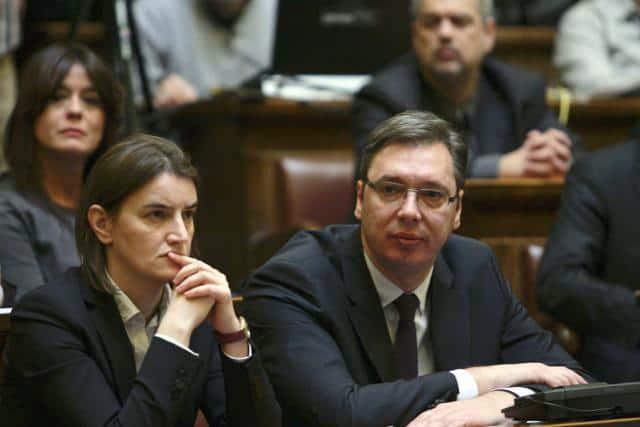 Ана Бърнабич и Александър Вучич. Снимка: Танюг