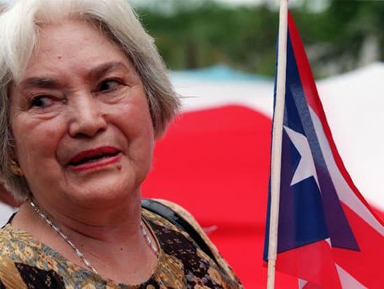 След излизането си от затвора през 1979 г. и до смъртта си през 2010-та Лолита Леброн остава много дейна в борбата за независимост в Пуерто Рико. Дори отново е аректувана за кратко заради протести срещу американска военна база. Снимка: resumanlatinoamericano