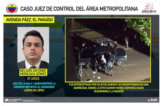 Снимка на убития съдия Нелсон Монкада и запис от камера за наблюдение край местопрестъплението. Снимка: albaciudad